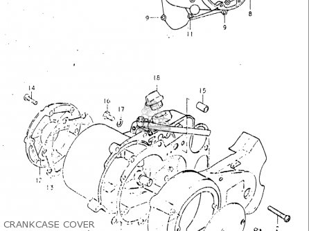 Suzuki Jr50 1982 (usa) parts list partsmanual partsfiche