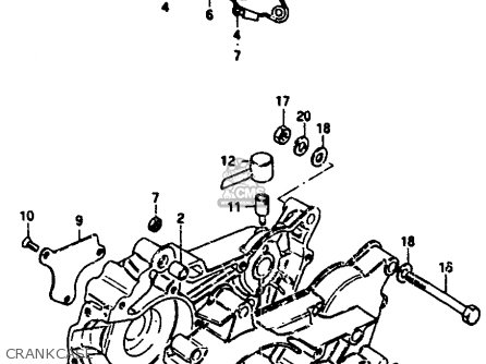 Suzuki Jr50 1985 (f) parts list partsmanual partsfiche