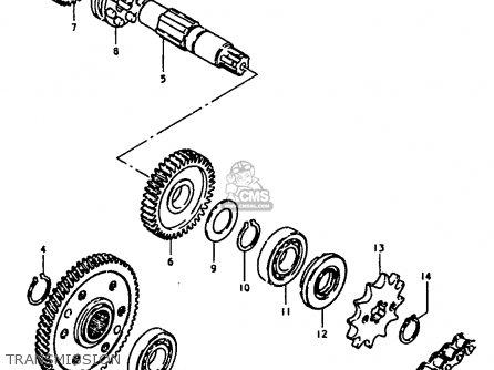 Suzuki Jr50 1985 (f) parts list partsmanual partsfiche