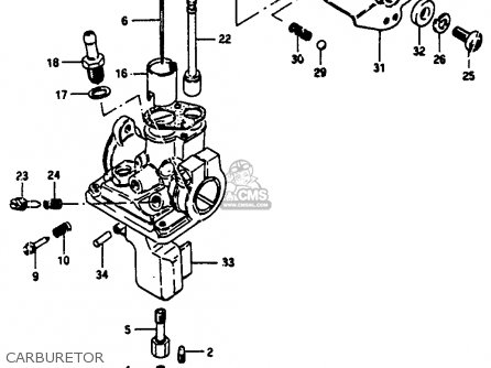 Suzuki Jr50 1986 (g) parts list partsmanual partsfiche
