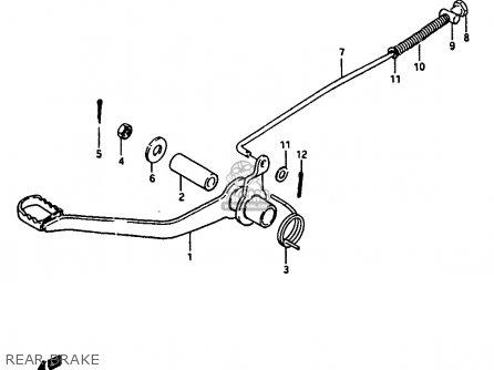 Suzuki Jr50 1987 (h) parts list partsmanual partsfiche