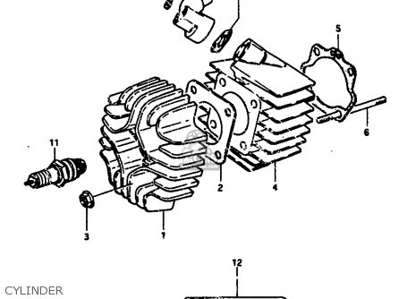 Suzuki Jr50 1990 (l) parts list partsmanual partsfiche