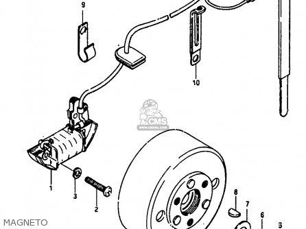 Suzuki JR50 1990 (L) parts lists and schematics