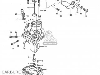 Suzuki JR50 1991 (M) USA (E03) parts lists and schematics
