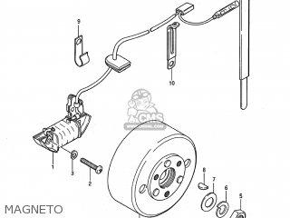 Suzuki JR50 1991 (M) USA (E03) parts lists and schematics
