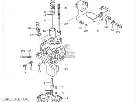 Suzuki Jr50 1996-1999 (usa) parts list partsmanual partsfiche