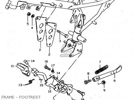 Suzuki Jr50 1996 (t) parts list partsmanual partsfiche