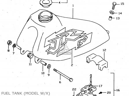 Suzuki Jr50 1996 (t) parts list partsmanual partsfiche