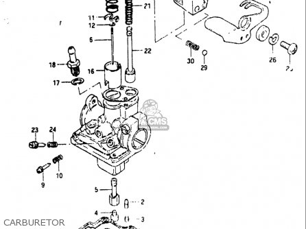 Suzuki Jr50 R 1983 (usa) parts list partsmanual partsfiche