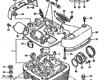 Suzuki Ls650 1991 (pm) parts list partsmanual partsfiche