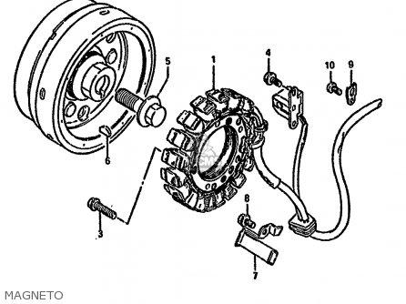 Suzuki Ls650 1991 (pm) parts list partsmanual partsfiche