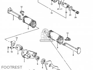 Suzuki LS650 SAVAGE 1986 (G) USA (E03) parts lists and