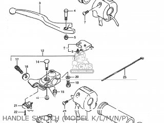 Suzuki LS650 SAVAGE 1986 (G) USA (E03) parts lists and
