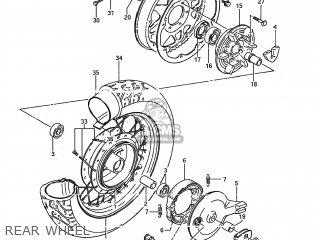 Suzuki Ls650 Savage 1986 (g) Usa (e03) parts list