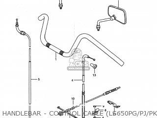 Suzuki Ls650 Savage 1987 (h) Usa (e03) parts list