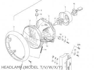 Suzuki LS650P SAVAGE 2003 (L3) USA (E03) parts lists and