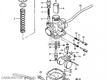 Suzuki Lt-125 1984 (e) parts list partsmanual partsfiche