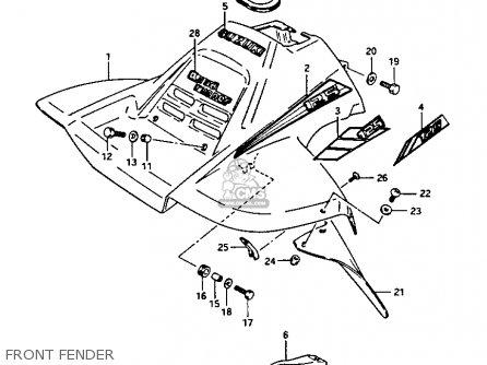 Suzuki Lt-125 1986 (g) parts list partsmanual partsfiche