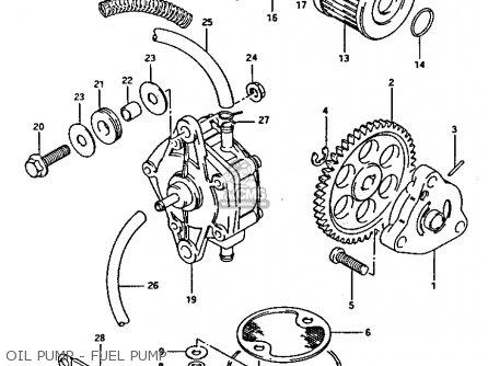 Suzuki Lt-125 1987 (h) parts list partsmanual partsfiche
