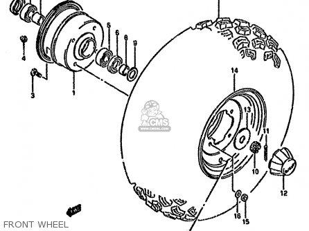 Suzuki Lt-f160 1995 (s) parts list partsmanual partsfiche