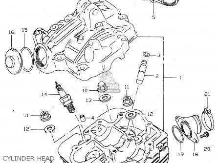 Suzuki Lt-f160 1997 (v) parts list partsmanual partsfiche