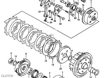 Suzuki Lt-f230 1986 (g) parts list partsmanual partsfiche