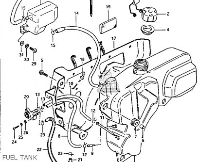 Suzuki Lt-f230 1987 (h) parts list partsmanual partsfiche