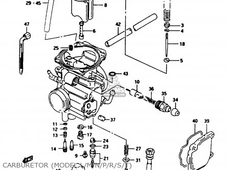 Suzuki Lt-f250 1988 (j) parts list partsmanual partsfiche