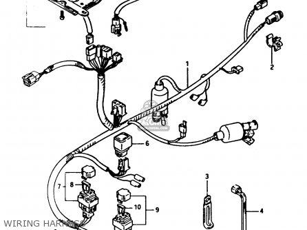 Suzuki Lt-f250 1990 (l) parts list partsmanual partsfiche