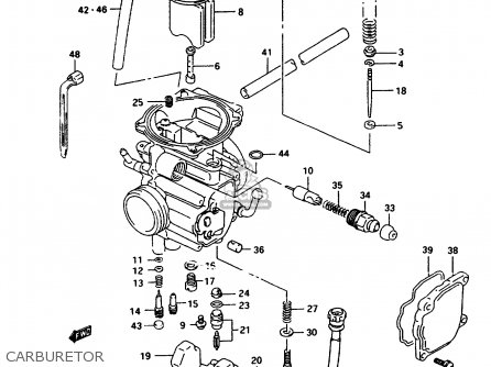 Suzuki Lt-f250 1997 (v) parts list partsmanual partsfiche