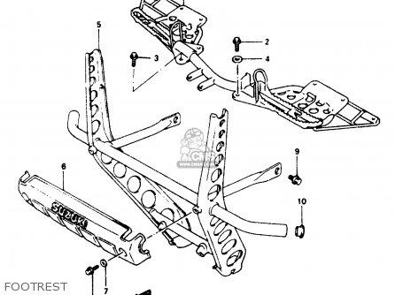 Suzuki Lt-f250 1997 (v) parts list partsmanual partsfiche