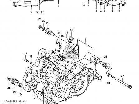 Suzuki Lt-f4 1991 (wdxm) parts list partsmanual partsfiche