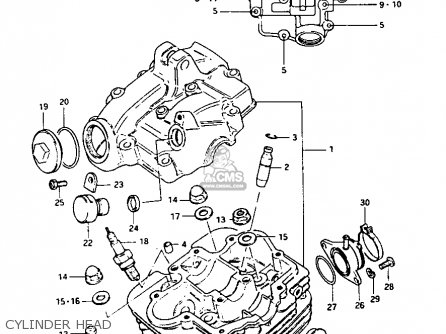 Suzuki LT125 1983 (D) parts lists and schematics