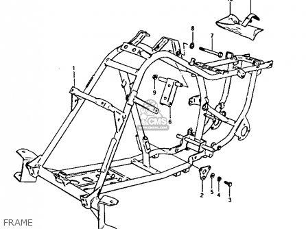 Suzuki Lt125 1983 (d) parts list partsmanual partsfiche