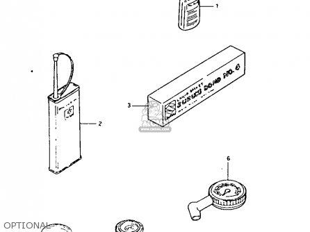 Suzuki LT125 1983 (D) parts lists and schematics