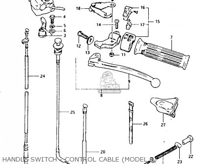 Suzuki Lt125 1984 (e) parts list partsmanual partsfiche