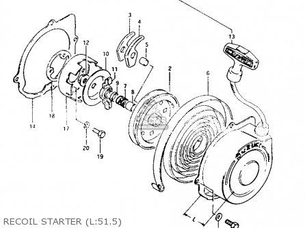 Suzuki Lt125 1984 (e) parts list partsmanual partsfiche