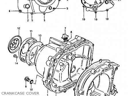 Suzuki LT125 1985 (F) parts lists and schematics