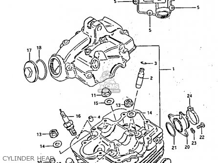 Suzuki Lt125 1985 (f) parts list partsmanual partsfiche