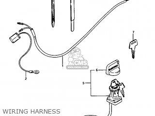 Suzuki Lt125 1985 (f) parts list partsmanual partsfiche