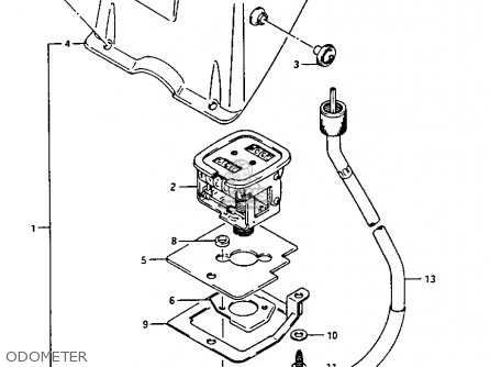 Suzuki Lt125 1986 (g) parts list partsmanual partsfiche