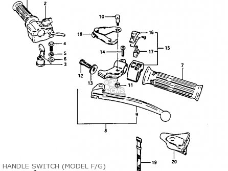 Suzuki Lt125 1987 (h) parts list partsmanual partsfiche