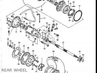 Suzuki LT185 1984 (E) USA (E03) parts lists and schematics