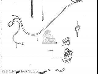 Suzuki LT185 1986 (G) USA (E03) parts lists and schematics