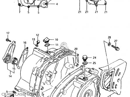 Suzuki Lt230 1987 (eh) parts list partsmanual partsfiche