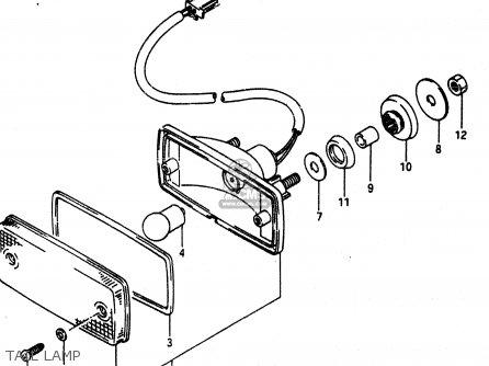 Suzuki Lt230 1989 (ek) parts list partsmanual partsfiche
