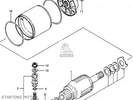 Suzuki Lt230 1990 (el) parts list partsmanual partsfiche