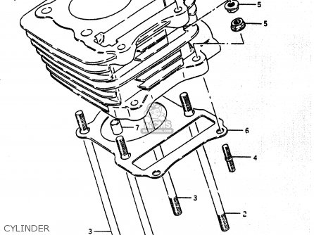 Suzuki Lt230e 1987 (h) parts list partsmanual partsfiche