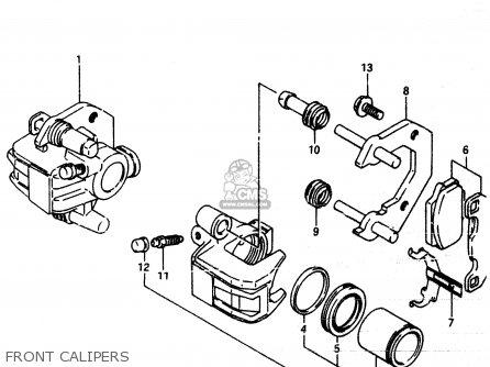 Suzuki Lt230e 1987 (h) parts list partsmanual partsfiche