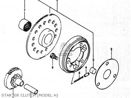 Suzuki Lt230e 1989 (k) parts list partsmanual partsfiche